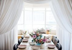 A Pair & A Spare | DIY Indoor Canopy Brunch