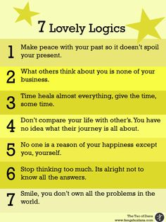 Quote and inspiration from Tao of Dana. 7 Lovely Logics.