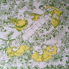 Rare XL tablecloth  fabric design Björn by Scandinaviavandesign