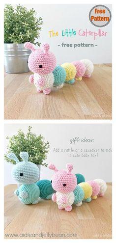 The Little Caterpillar Amigurumi Free Crochet Pattern #coolcreativityfreepattern #crochetamigurumi #crochettoysforkids