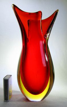 *MURANO* Design Glas Vase Seguso/Sommerso 22cm via designglas. Click on the image to see more!