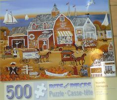 Seaside Antiues 500 pc puzzle 16x20 Carol Dyer Sealed Folk Art Bits and Pieces