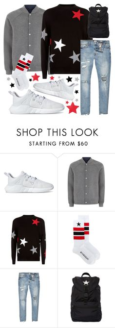 """⭐️⭐️⭐️"" by sanela-enter ❤ liked on Polyvore featuring adidas Originals, Topman, Givenchy, River Island, outfit and inspiration"