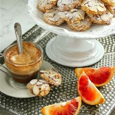 Almond and Blood Orange Cookies