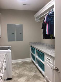 """26 Laundry Room Design Ideas That Will Make You Want To Do Laundry - GODIYGO.COM Visit our website for additional details on """"laundry room storage diy budget"""". Home, Room Remodeling, Room Storage Diy, Drying Room, Room Makeover, Basement Laundry, Modern Laundry Rooms, Basement Remodeling, Room Design"""