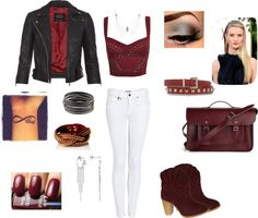 """""""Edgy Maroon"""" by tran-mik on Polyvore"""