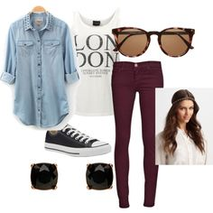 A fashion look from August 2013 featuring SELECTED tops, Current/Elliott jeans and Converse sneakers. Browse and shop related looks.