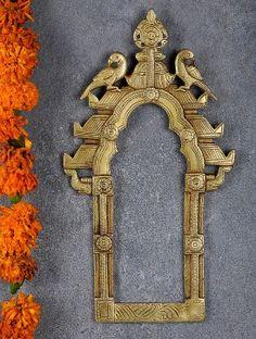 Parrot Engraved Brass Prabhavali