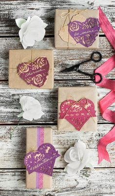#paperhearts #ValentinesDay #papercraft www.LiaGriffith.com