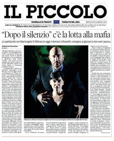 """26 marzo 2014 - intervista a Mariangela D'Abbraccio sul quotidiano di Trieste """"Il Piccolo"""" a proposito dello spettacolo """"Dopo Il Silenzio"""""""