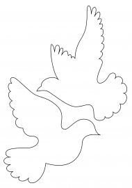 How to Make Dove From Papers - ArtsyCraftsyDad Bird Template, Butterfly Template, Flower Template, Felt Crafts, Diy And Crafts, Arts And Crafts, Craft Patterns, Quilt Patterns, Paper Birds