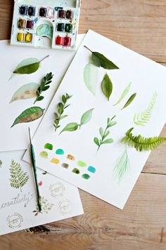 How to Paint a Basic Leaf with Watercolors | The Art 123