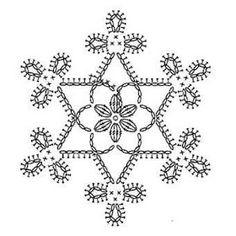 Snowflake crochet motif nr 4 pattern by Anabelia Craft Design - Salvabrani Appliques Au Crochet, Crochet Motifs, Crochet Diagram, Thread Crochet, Crochet Doilies, Crochet Flowers, Crochet Lace, Crochet Christmas Decorations, Crochet Motif
