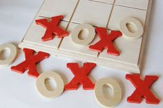 Wooden LOVE Valentine Day Edition Tic Tac Toe Wood by applenamos