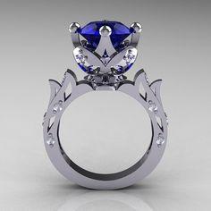 Antiguo moderno 14K oro blanco 30 quilates diamante por artmasters