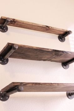 Set of 3 Industrial shelving Industrial Bookcase by HanorManor