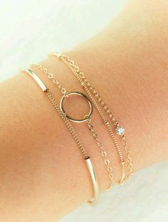 Layered delicate bracelets