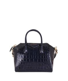 Givenchy Antigona bag in black crocodile print leather