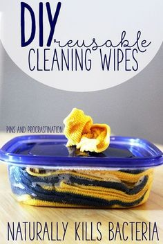 Everyone loves convenience. There's nothing more convenient than just reaching for a wipe and cleaning up a mess. But I always hate throwing them away- it feels so wasteful. So I came up with a solution: reusable wipes! These wipes are totall Deep Cleaning Tips, House Cleaning Tips, Natural Cleaning Products, Spring Cleaning, Cleaning Hacks, Diy Hacks, Diy Cleaning Wipes, Green Cleaning Recipes, Borax Cleaning