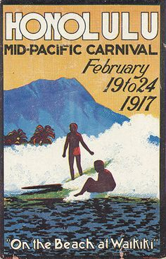 AWESOME vintage posters to print  Historical surf art & vintage posters | Club Of The Waves Blog