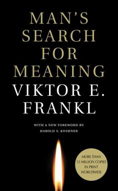 "Man's Search for Meaning [Mass Market Paperback] (by Viktor E. Frankl)     Frankl is fond of quoting Nietzsche, ""He who has a why to live can bear with almost any how.""  In the concentration camp every circumstance conspires to make the prisoner lose his hold.  All the familiar goals in life are snatched away. What alone remains is ""the last of human freedoms""—the ability to ""choose one's attitude in a given set of circumstances."" […] / Preface by Gordon W. Allport"