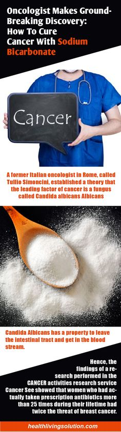 """A former Italian oncologist in Rome, called Tullio Simoncini, established a theory that the leading factor of cancer is a fungus called Candida albicans Albicans. He suggests that: """"Cancer is a fungus, called Yeast Albicans, and it can be dealt with using sodium bicarbonate"""". With the help of this basic treatment that requires alkalization of …"""