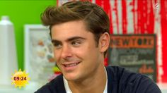 "Zac Efron on ""Sat.1 Frühstücksfernsehen"". (translated ""Sat.1 Breakfast TV"") from Berlin.  Taped on April 25, 2012"