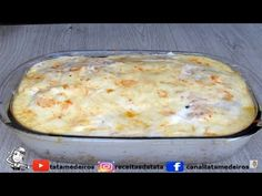 Macarrão com Frango de Forno - YouTube Pasta, Cheeseburger Chowder, Mashed Potatoes, Macaroni And Cheese, Easy Meals, Food And Drink, Soup, Banana, Cooking