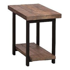 The Pomona 2-tier end table will add industrial and updated style and function to any space. The rustic natural finish and metal leg design provide a unique look that is sure to complement a variety of decor styles.
