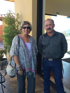 Helen Shafer Garcia with Rancho La Bellota owner Raul Aguiar, at Las Nubes Winery