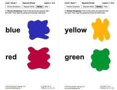Separate Words in Sentences: Lesson 1, Book 1 (Newitt Prereading Series)