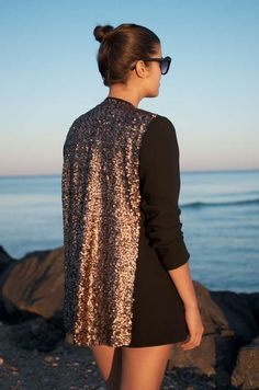 The 'a pair & a spare' DIY Sequin Blazer Will Dress Up Any Outfit #fashion trendhunter.com
