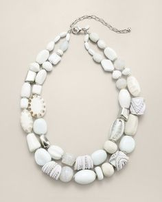 Chico's - Vicia Multi Strand Necklace #15Things #fashion #style #trending #accessories #jewelry #stone #Chicos #necklace #white