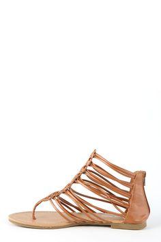 Cruising Around Town Sandals-Cognac - $24.00