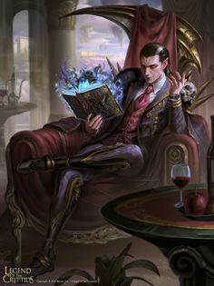 ArtStation - False Consul Vangelis, Arif Wijaya Digital Art Fantasy, Dark Fantasy Art, Fantasy Artwork, Character Concept, Character Art, Male Vampire, Fantasy Names, Dungeons And Dragons Homebrew, Image Painting