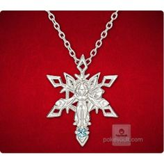 Pokemon Center 2015 Glaceon Ice Crystal Pendant Necklace With Blue Topaz Stone PRE-ORDER AUGUST 2015