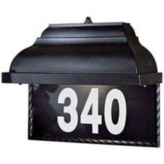 dark sky lighted house number
