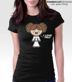 Star Wars Kawaii I Love You T Shirt