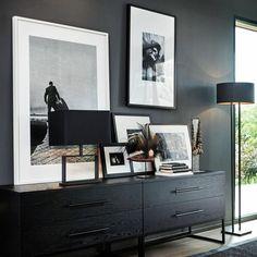 Masculine Home Decor, Masculine Interior, Console Table Styling, Dark Home Decor, Boho Bedroom Decor, Dark Interiors, Interior Decorating, Interior Design, Home Decor Accessories