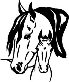 horse wall stickers | or WALL Decal Stickers 23, horse decals, animal stickers, pet decals ...