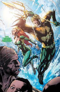 extraordinarycomics:  Aquaman & Mera by Ivan Reis.___©__!!!!