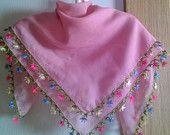 Items similar to Turkish needle lace oya cotton foulard on Etsy