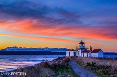 "West Point Sunset - A beautiful Fall sunsets on the West Point Lighthouse looking over the Puget Sound and the Olympic Mountains.  Follow me: <a href=""https://www.facebook.com/markepsteinphoto"">Facebook</a> <a href=""http://instagram.com/markeps"">Instagram</a>  See more: <a title=""Mark Epstein Photography"" href=""http://www.markepsteinphoto.com/"">Mark Epstein Photography</a>"