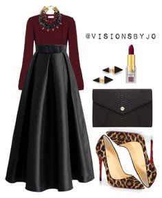 """""""Untitled #1119"""" by visionsbyjo on Polyvore featuring RED Valentino, Chicwish, Christian Louboutin, Lizzie Fortunato, Vita Fede, Napoleon Perdis and Oroton"""