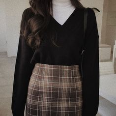 Mode Outfits, Retro Outfits, Cute Casual Outfits, Vintage Outfits, Korean Outfits, Winter Fashion Outfits, Look Fashion, Korean Fashion, Fall Outfits