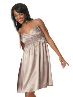 Jordan Fashions 644 Short Satin Beaded Formal Prom Dress
