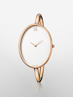sartorially rose goldtone bangle watch