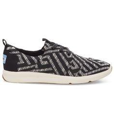 cf982b17909 Toms Women s Del Ray Sneaker Shoes Black Tribal Woven - MetroShoe Warehouse  Toms Sneakers