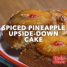 Spiced Pineapple Upside-Down Cake Recipe