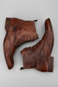 Men's fashion: Brogue Boots which makes men being loved by women - Leather Boots - Ideas of Leather Boots - Men's fashion: Brogue Boots which makes men being loved by women Rugged Style, Me Too Shoes, Men's Shoes, Shoe Boots, Fall Shoes, Shoes Men, Nike Shoes, Tan Leather Ankle Boots, Leather Shoes